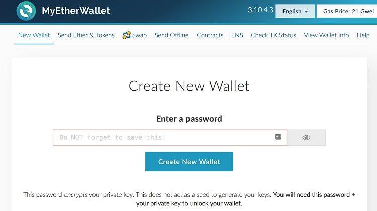 ¿Cómo crear un monedero en My Ether Wallet?