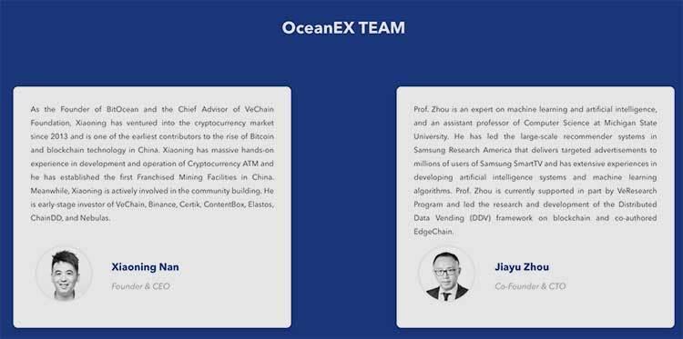Parte del equipo de Oceanex ICO