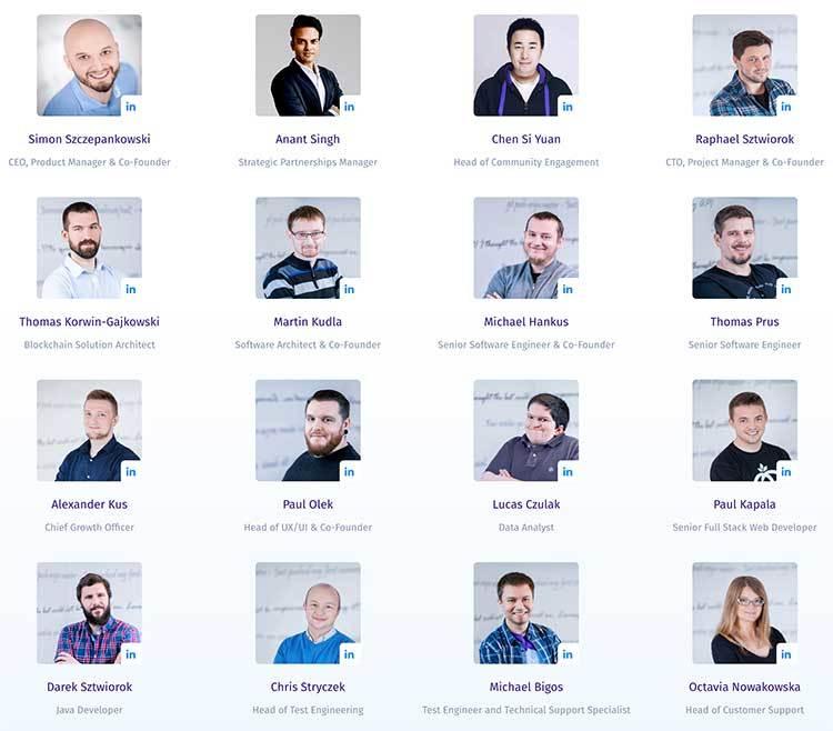 Miembros del equipo Buddy ICO